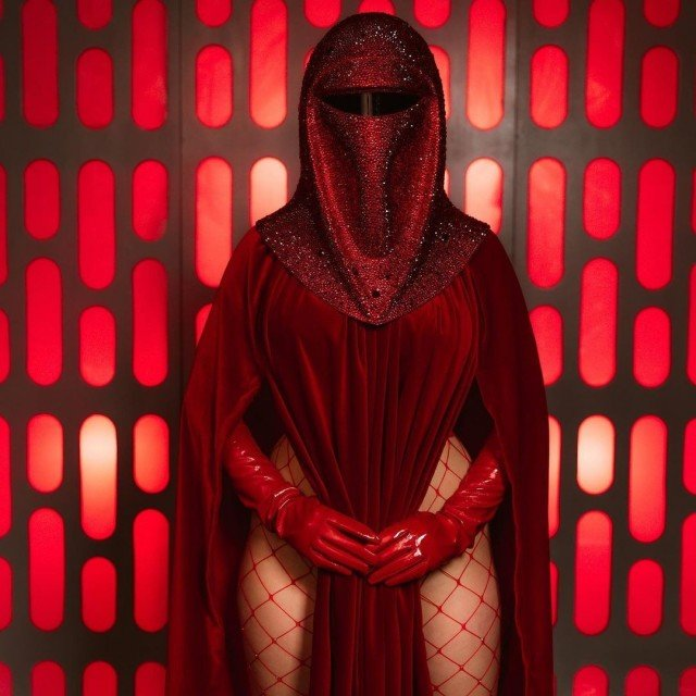Happy #Revengeofthe5th!! That helmet is covered in real Swarovski crystals...
