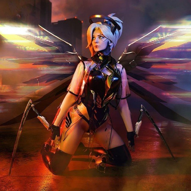 CYBER MERCY!! 😎🔥🔥I love to come up with different collabs...