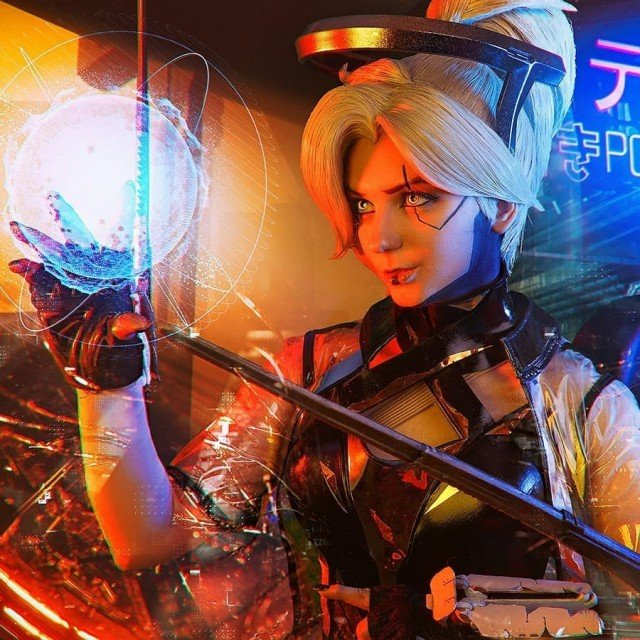 CYBERPUNK Mercy 2077 🎮😎🔥If you interested in prints with my...