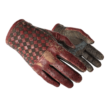 Driver Gloves, Crimson Weave